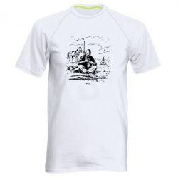 Мужская спортивная футболка Козак та кінь - FatLine