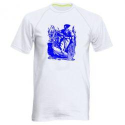 Мужская спортивная футболка Козак у камишу - FatLine