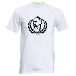 Мужская спортивная футболка Козак у вінку - FatLine