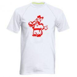 Мужская спортивная футболка Козак з люлькою - FatLine
