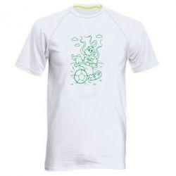 Мужская спортивная футболка Козак з м'ячем - FatLine