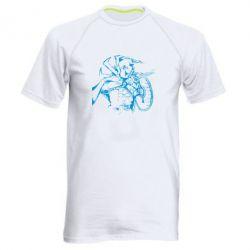 Мужская спортивная футболка Козак з щитом - FatLine