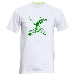 Мужская спортивная футболка Козак з шаблями - FatLine