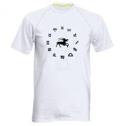 Мужская спортивная футболка козерог - FatLine