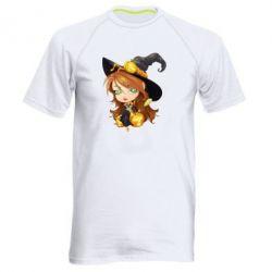 Мужская спортивная футболка Красивая ведьма - FatLine