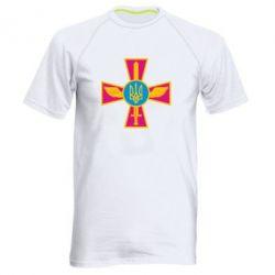 Мужская спортивная футболка Крест з мечем та гербом - FatLine