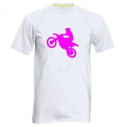 Мужская спортивная футболка Кроссовый мотоцикл