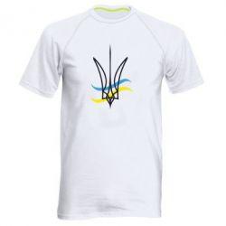 Мужская спортивная футболка Кумедний герб України - FatLine