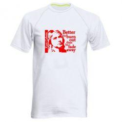 Мужская спортивная футболка Kurt Cobain - FatLine
