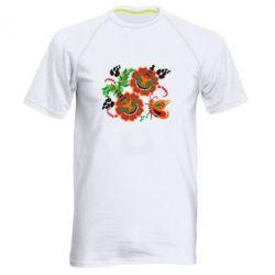 Мужская спортивная футболка Квіти України