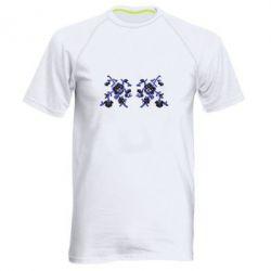Мужская спортивная футболка Квітковий орнамент - FatLine
