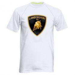 Мужская спортивная футболка Lamborghini Logo - FatLine