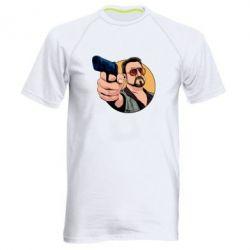 Чоловіча спортивна футболка Лебовськи з пістолетом