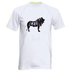 Мужская спортивная футболка Лев 2