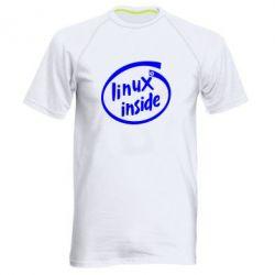 Мужская спортивная футболка Linux Inside - FatLine