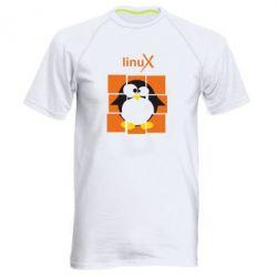 Мужская спортивная футболка Linux pinguine - FatLine