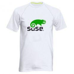 Мужская спортивная футболка Linux Suse - FatLine