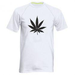 Чоловіча спортивна футболка Листочок марихуани