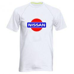 Мужская спортивная футболка Logo Nissan - FatLine