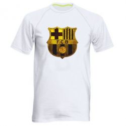 Мужская спортивная футболка Логотип Барселоны - FatLine