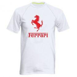 Чоловіча спортивна футболка логотип Ferrari - FatLine