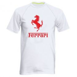 Чоловіча спортивна футболка логотип Ferrari