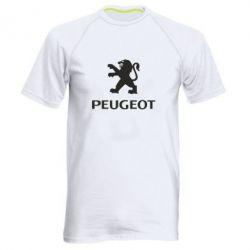Мужская спортивная футболка Логотип Peugeot