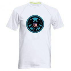 Мужская спортивная футболка Логотип Щита