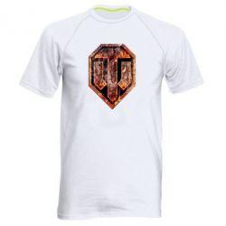 """Мужская спортивная футболка Логотип World Of Tanks """"Раскаленный металл"""" - FatLine"""