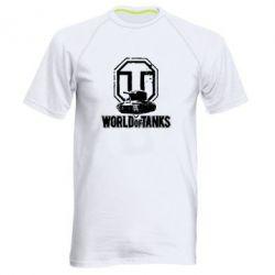 Мужская спортивная футболка Логотип World Of Tanks