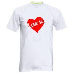 Мужская спортивная футболка Love is... - FatLine