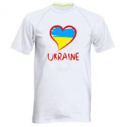 Мужская спортивная футболка Love Ukraine - FatLine