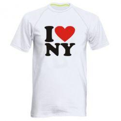 Мужская спортивная футболка Люблю Нью Йорк - FatLine