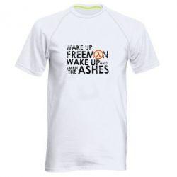 Мужская спортивная футболка Make up, mr. Freeman