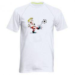 Мужская спортивная футболка Маленький футболист - FatLine