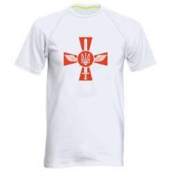 Мужская спортивная футболка Меч, крила та герб - FatLine