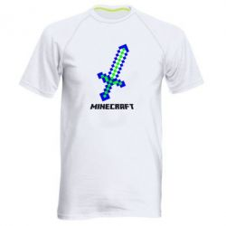 Купить Мужская спортивная футболка Меч Minecraft, FatLine