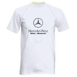 Мужская спортивная футболка Mercedes Benz - FatLine
