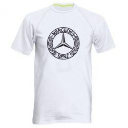 Мужская спортивная футболка Mercedes Logo - FatLine