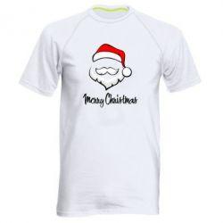 Мужская спортивная футболка Merry Christmas - FatLine