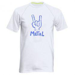 Мужская спортивная футболка Metal - FatLine