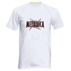 Мужская спортивная футболка Metallica Logo - FatLine