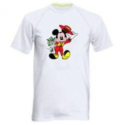 Мужская спортивная футболка Микки Джентельмен - FatLine