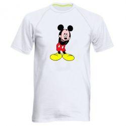 Мужская спортивная футболка Микки Маус стесняется - FatLine