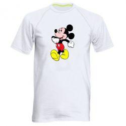 Мужская спортивная футболка Микки шагает - FatLine