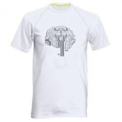 Мужская спортивная футболка Микросхемка Мозг