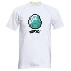 Мужская спортивная футболка Minecraft Diamond! - FatLine