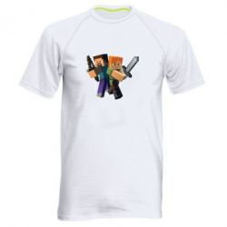 Мужская спортивная футболка Minecraft Fan Art - FatLine