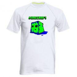 Мужская спортивная футболка Minecraft Head - FatLine