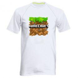 Мужская спортивная футболка Minecraft Main Logo - FatLine